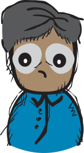 sad cartoon man