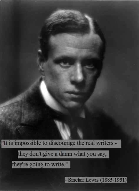Sinclair Lewis quote on being a writer