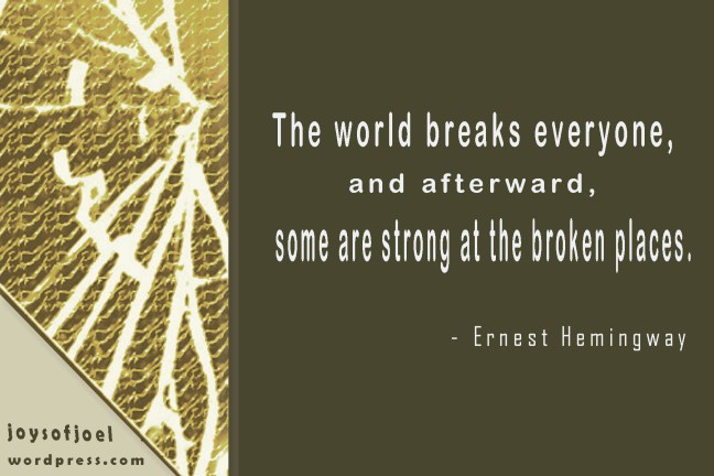 a quote by ernest hemingway, joys of joe poem , quotes and musings, poetry